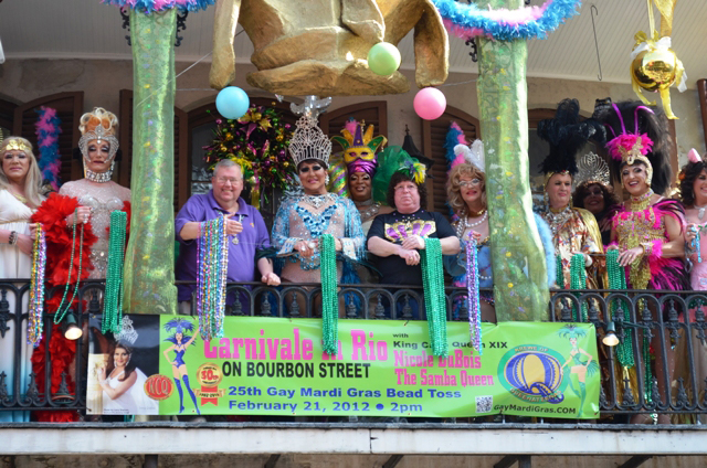 25th Gay Mardi Gras Bead Toss