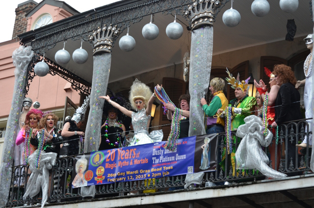 26th Gay Mardi Gras  Bead Toss