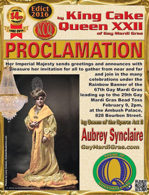 29th Gay Mardi Gras Bead Toss