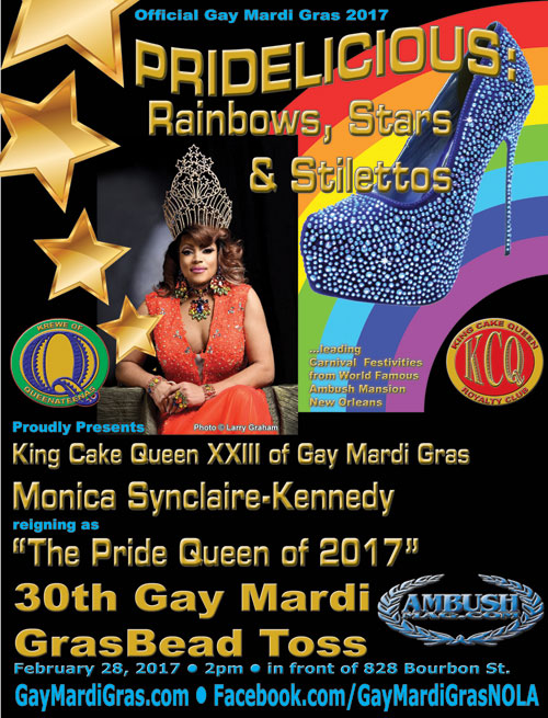 30th Gay Mardi Gras Bead Toss