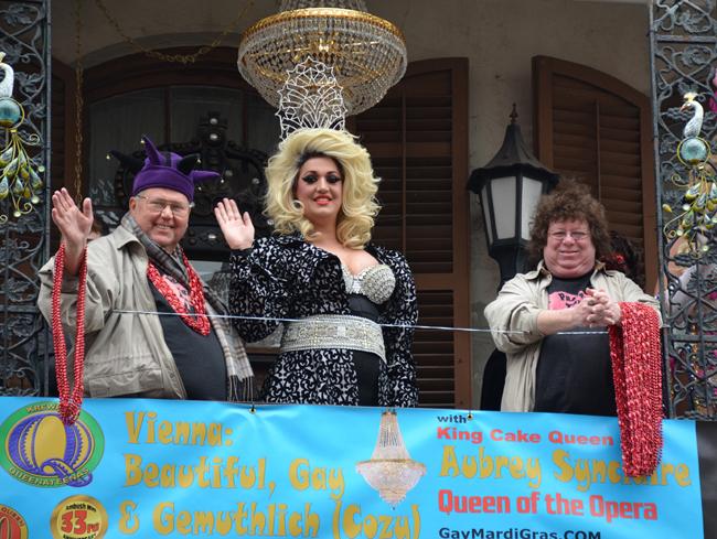King Cake Queen XXII of Gay Mardi Gras